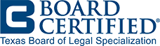 Logo Recognizing Law Office of Walter M. Reaves, Jr., P.C.'s affiliation with Board Certification seal for the Texas Board of Legal Specialization